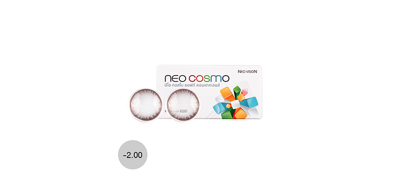 Neo Cosmo Contact Lens 1pair #Dali Brown -2.00