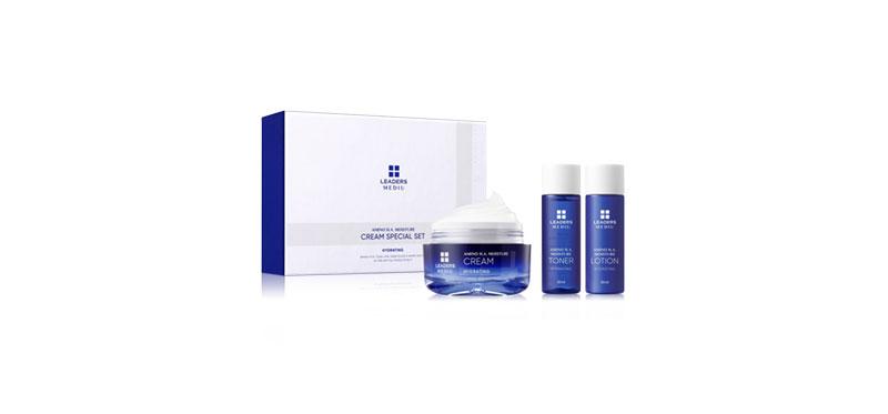 Leaders Mediu Amino H.A. Special Moisture Cream 50ml  (Free! Moisture Toner 30ml + Moisture Lotion 30ml)