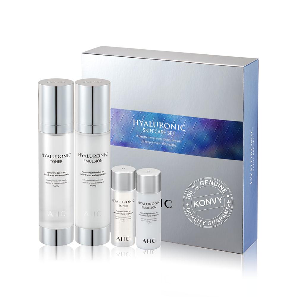 AHC Hyaluronic Skin Care Set Toner Kit (4 Items)