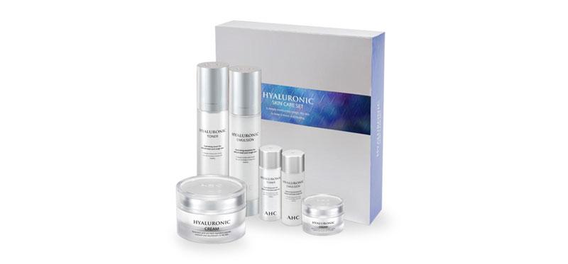AHC Hyaluronic Skin Care Set Toner Kit (6 Items)