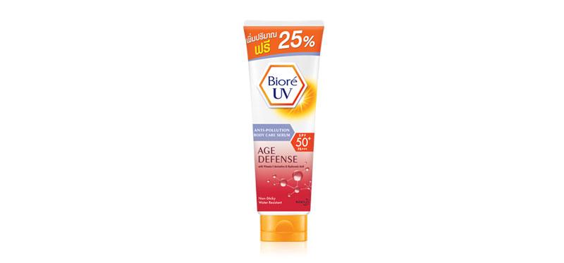 Biore UV Anti-Pollution Body Care Serum Age Defense SPF50+PA+++ 188ml