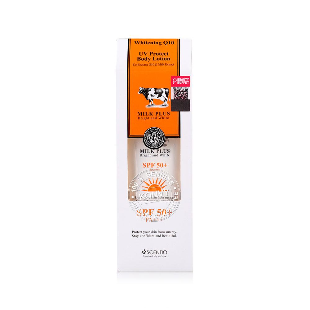 Beauty Buffet Scentio Milk Plus Whitening Q10 UV Protect Body Lotion SPF50+PA++ 100ml