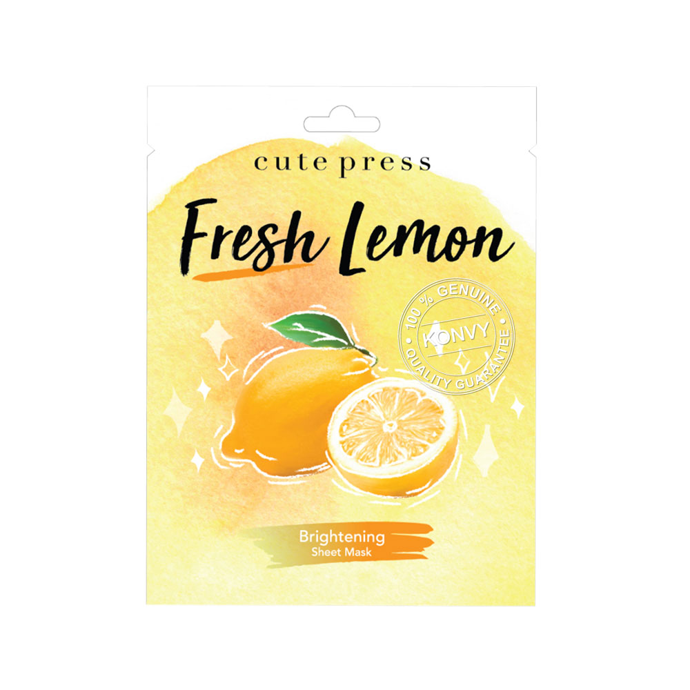 Cute Press Fresh Lemon Brightening Mask 24g