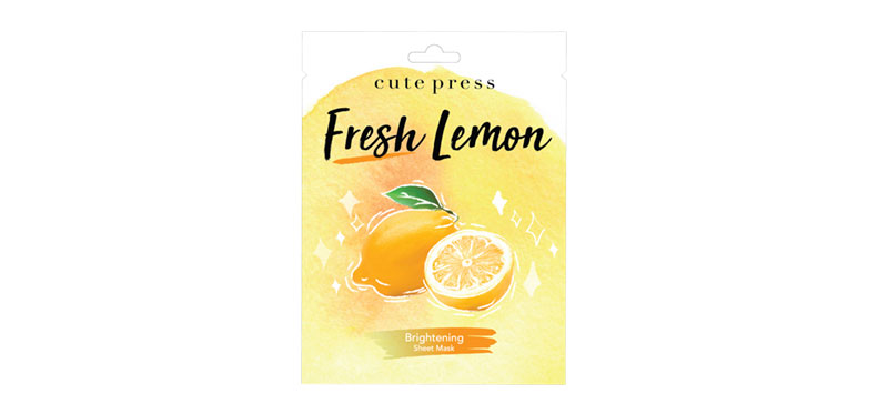 [Free Gift] Cute Press Fresh Lemon Brightening Mask 24g