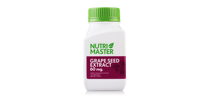 Nutrimaster Grape Seed Extract (60mg x 30Capsules)