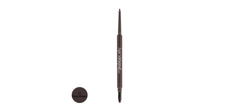 MKUP Super Water Resistant Eyebrow Gel 0.1g #01 Grey Brown