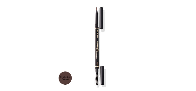 So Glam Go Brow Slim Slim Eyebrow Pencil 0.5g #03 Medium Brown