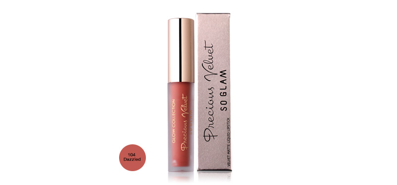 So Glam Precious Velvet Glow Collection Color Lip Gloss 2.5g #104 Dazzled