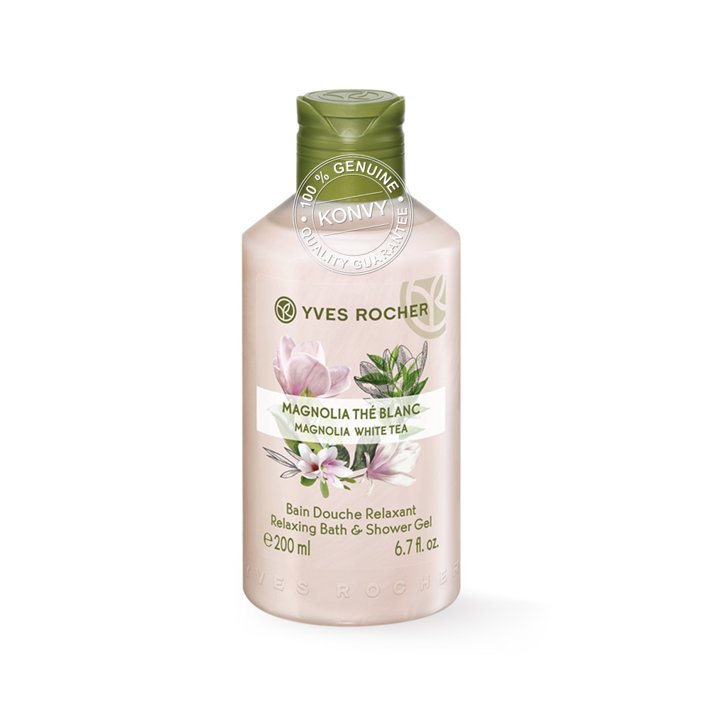 Yves Rocher  Relaxing Magnolia White Tea Shower Gel 200ml
