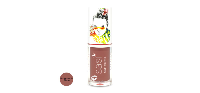 SASI Xoxo Liquid Lip 3g #501 Brownie Nude