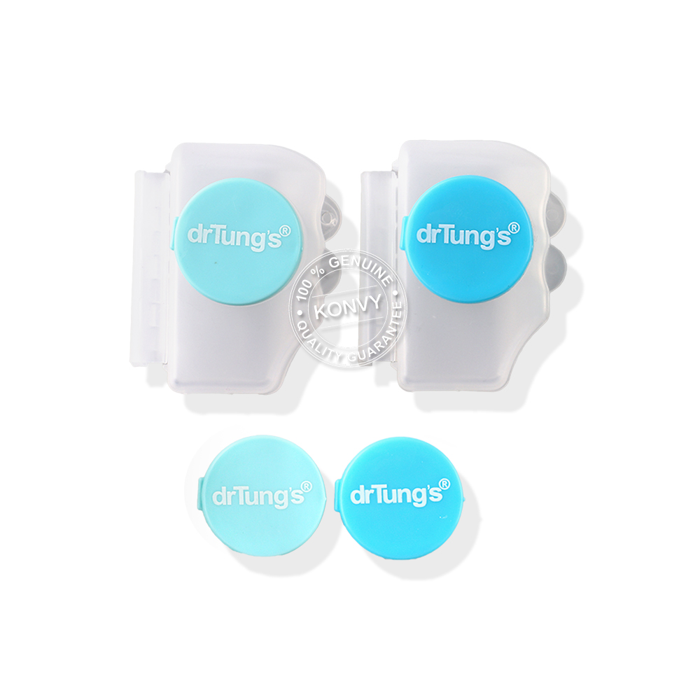Dr.Tung's Snap on Toothbrush Protection 2pcs (Free! Refills 2 pcs)(Random color)