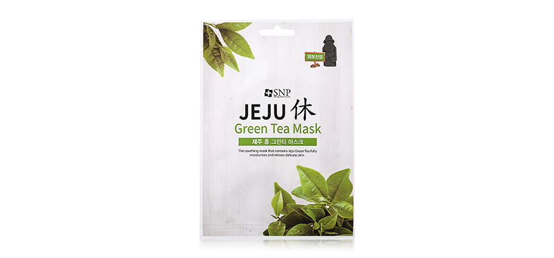 SNP Jeju Rest Green Tea Mask 1 Sheet