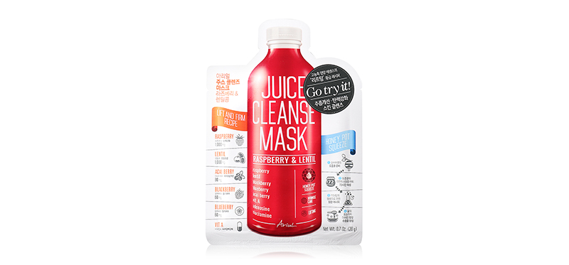 Ariul Juice Cleanse Mask Raspberry & Lentil 20g ( สินค้าหมดอายุ : 2020.07 )