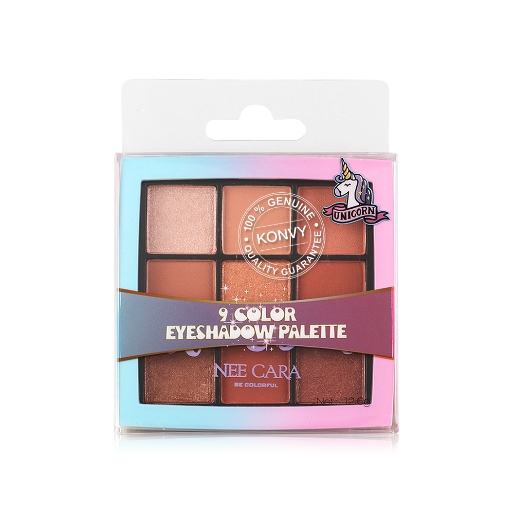 NEE CARA Colorful Unicorn 9 Colors Eyeshadow Palette 12.6g #03