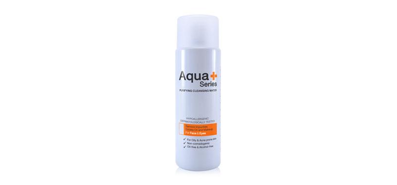Aqua+ Series Purifying Cleansing Water 50ml เพื่อผิวสวยสุขภาพดีอย่างที่คุณต้องการดูแลด้วยคลีนซิ่งสูตรน้ำ จากอควาพลัส ซีรี่ส์ ช่วยทำความสะอาดผิวและเครื่องสำอาง ขจัดสิ่งสกปรก ผลัดเซลล์เก่าที่เสื่อมสภาพ และเพิ่มความชุ่มชื่นให้แก่ผิว