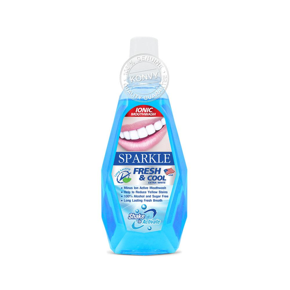แพ็คคู่ Sparkle Ionic Mouth Wash Fresh & Cool (500ml x 2pcs)