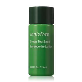 ฟรี! Green Tea Seed Skin 15ml + Green Tea Seed Lotion 15ml +Green Tea Seed Serum 15ml (1 ชิ้น / 1 ออเดอร์ )  เมื่อช้อปสินค้า Innisfree ครบ 1,000 บาท