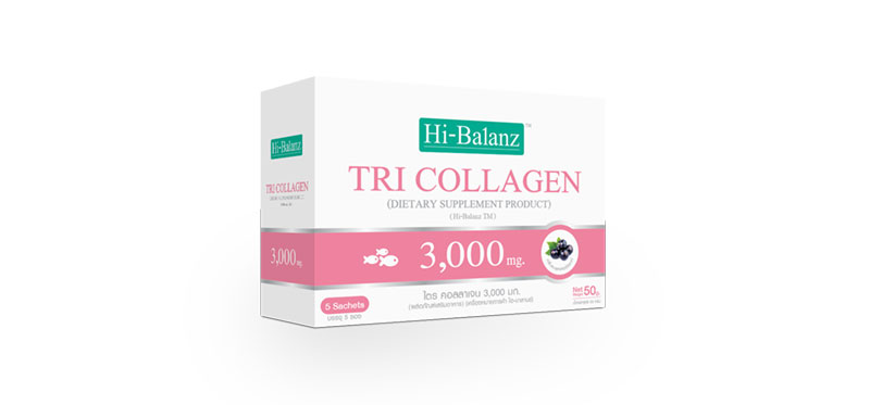 Hi-Balanz Tri Collagen 3,000mg (10g x 5 Sachets)