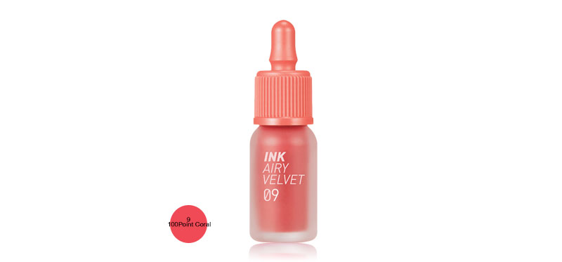 Peripera Ink Airy Velvet 4g #9 100Point Coral