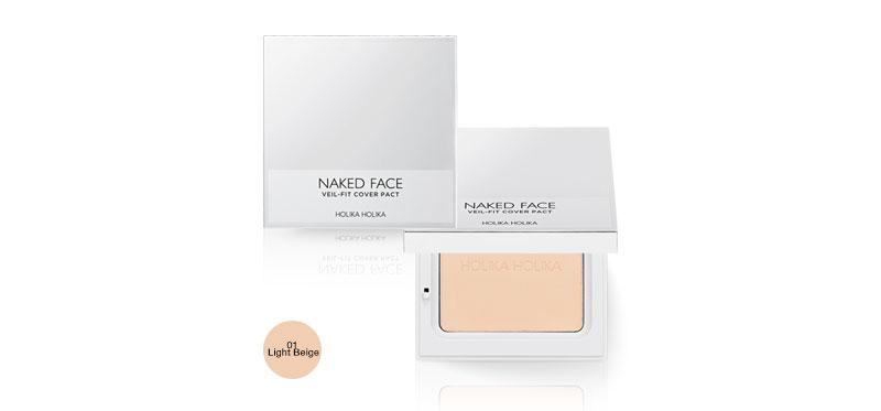 Holika Holika Naked Face Veil Fit Cover Pact 12g #01 Light Beige