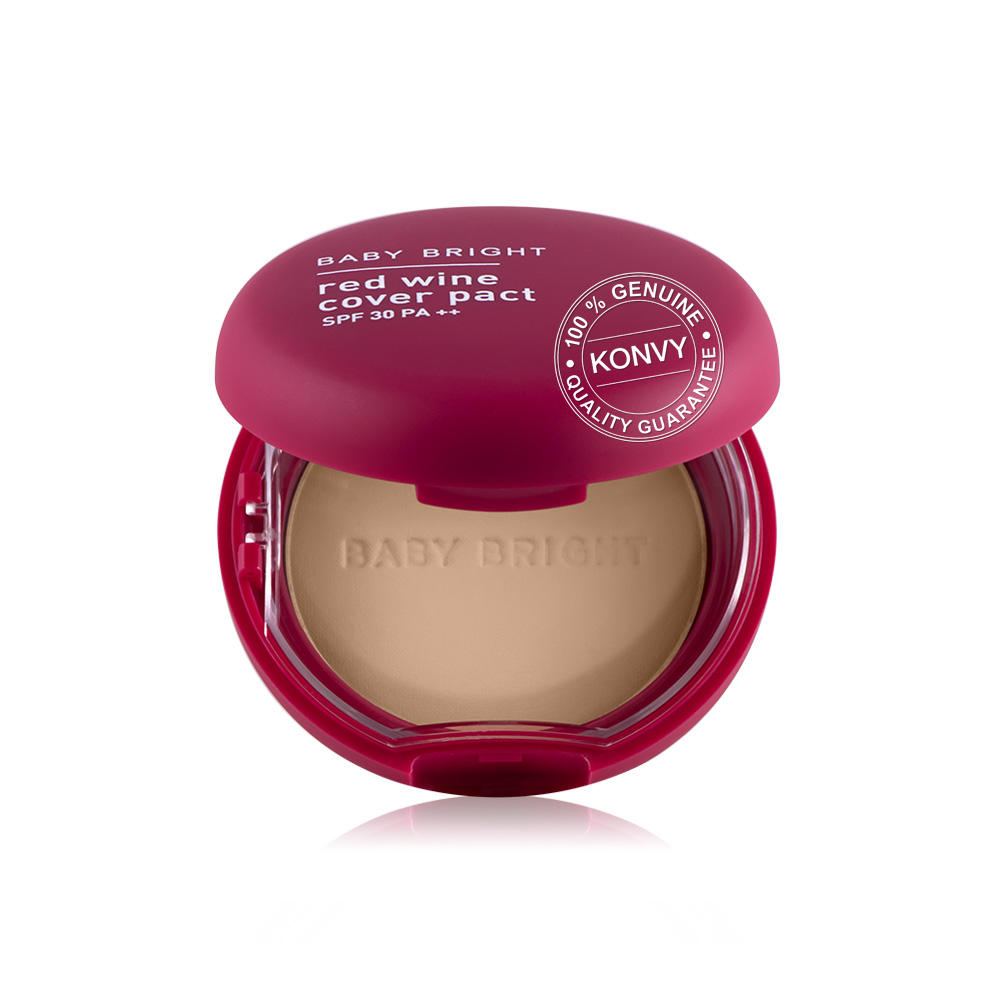 Baby Bright Red Wine Cover Pact SPF30 PA++ 6.5g #21 Light Beige