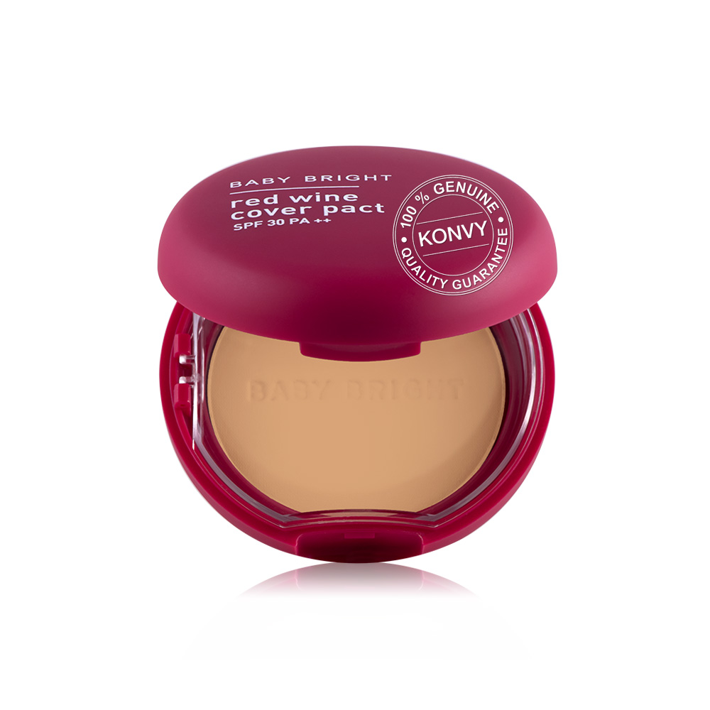 Baby Bright Red Wine Cover Pact SPF30 PA++ 6.5g #25 Honey Beige