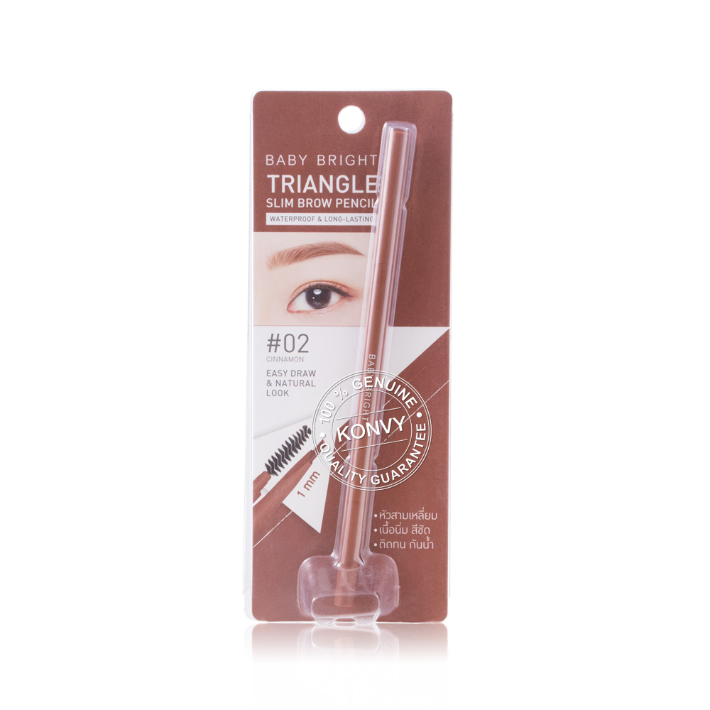 Baby Bright Triangle Slim Brow Pencil 0.07g #02 Cinnamon