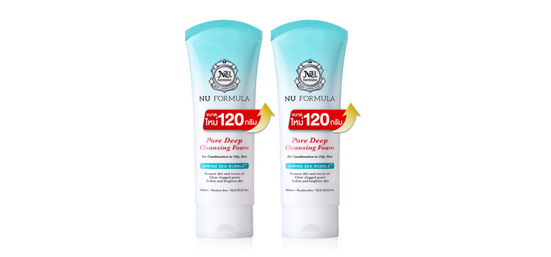 แพ็คคู่ Nu Formula Pore Deep Cleansing Foam (120g x 2pcs)
