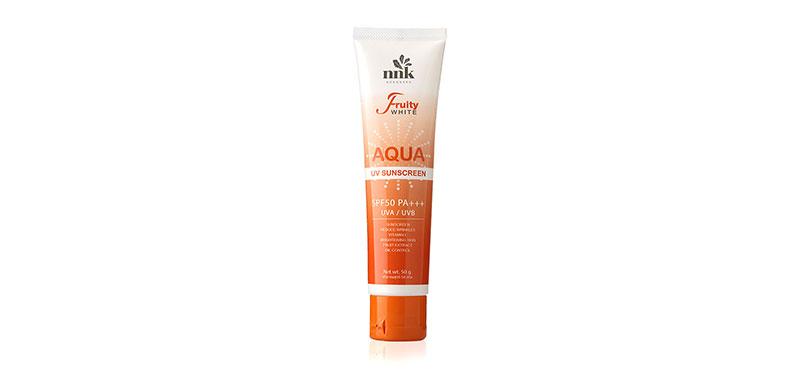 NNK NONGNAKA Fruity White UV Sunscreen Aqua SPF50/PA+++ 50g