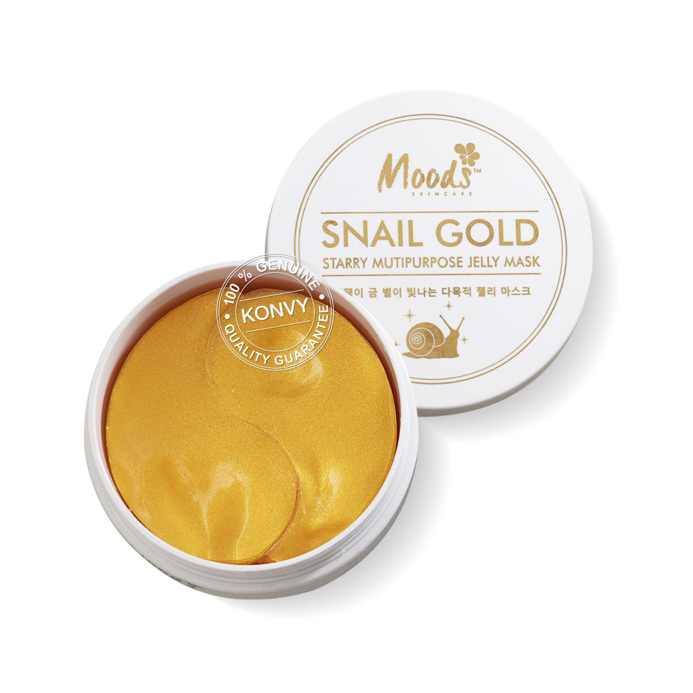 Moods Skin Care Moods Snail Gold Starry Multipurpose Jelly Mask 60Pcs