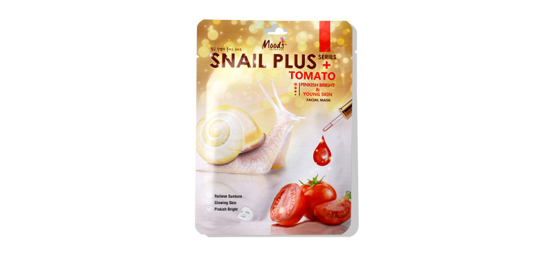 Moods Skin Care Moods Snail Plus Series Tomato Pinkish Bright & Young Skin Facial Mask 38ml