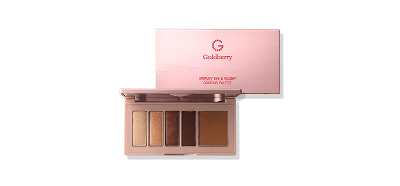 Goldberry Simplify Eye & Highlight Contour Palette #01 Ordinary Brown