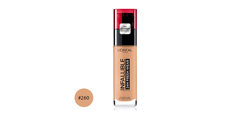 L'Oréal Paris Infallible 24H Fresh Wear 30ml #260