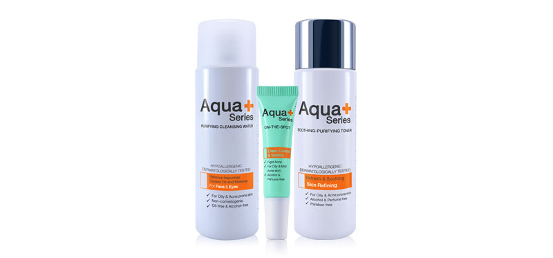 Aqua+ Series Set 3 Items 3 Step Acne Solution