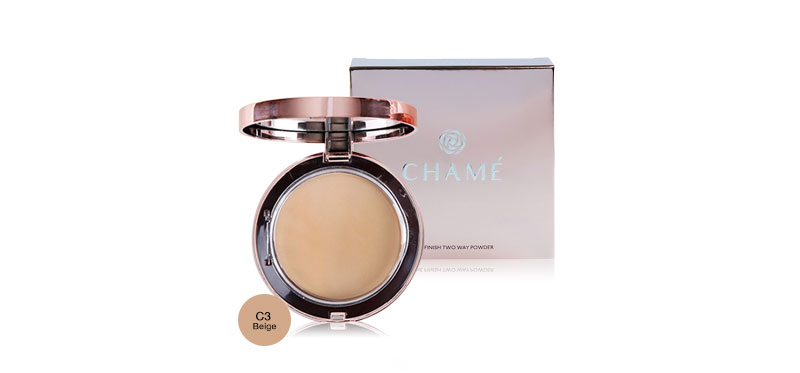Chame One Finish Two Way Powder 11g #C3 Beige