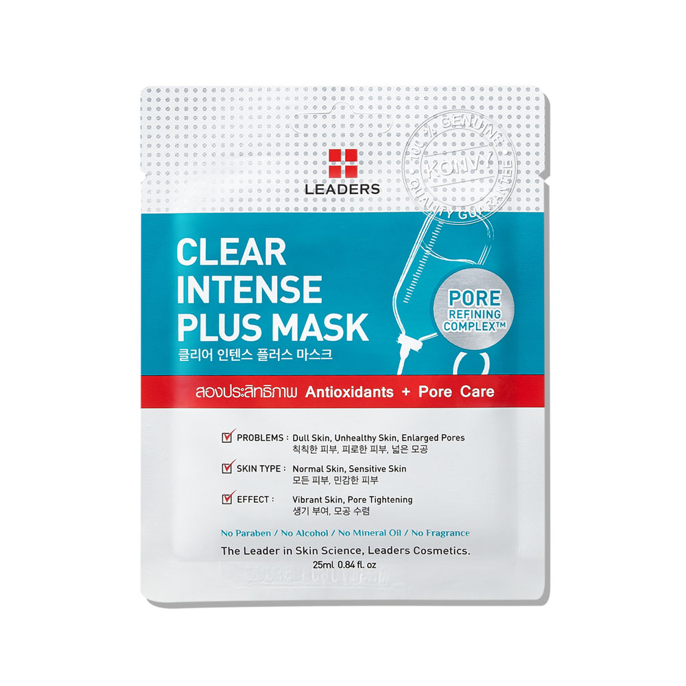 [แพ็คห้า] Leaders Clear Intense Plus Mask (25ml x 5pcs)