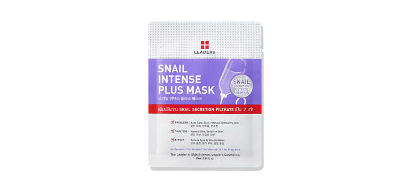Leaders Snail Intense Plus Mask 25ml