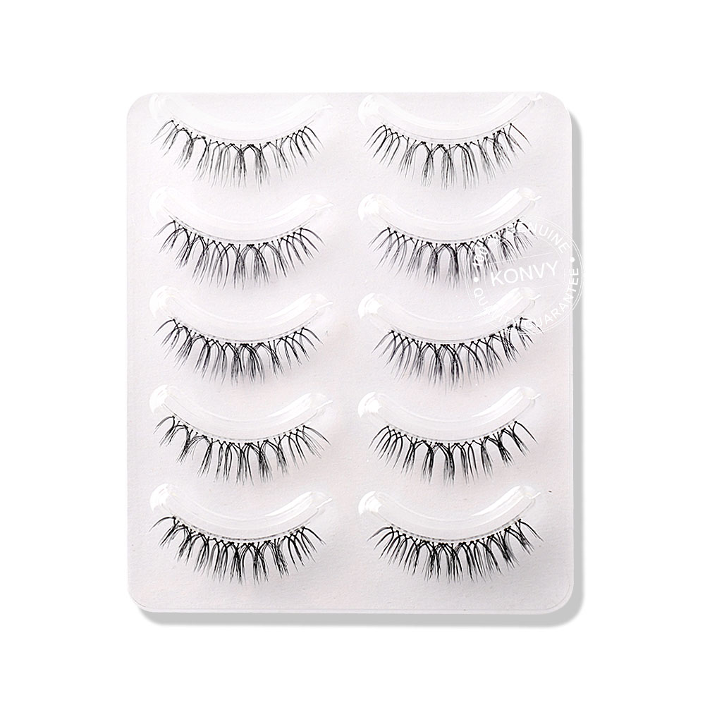 Oni 3D Natural Simulation Eyelashes 5 Pairs #Black (W-1)