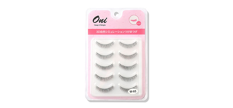 Oni 3D Natural Simulation Eyelashes 5 Pairs #Black (W-3)