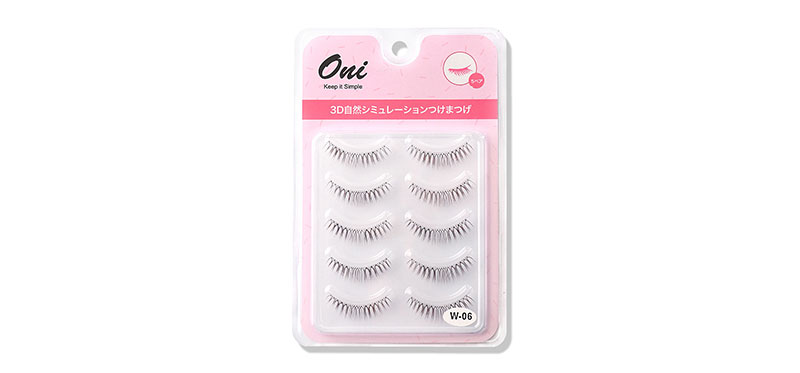 Oni 3D Natural Simulation Eyelashes 5 Pairs #Black (W-6)