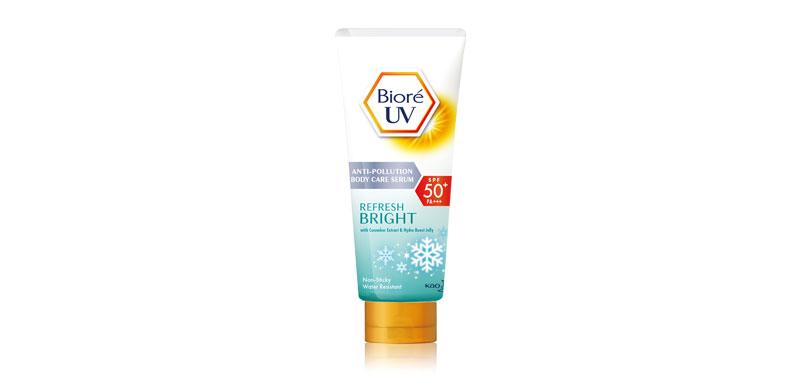 Biore UV Anti-Pollution Body Care Serum Refresh Bright SPF50+/PA+++ 150ml