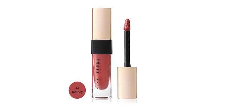Bobbi Brown Luxe Liquid Lip Velvet Matte 6ml #4 Tomboy อวดริมฝีปากสวยโดดเด่นอย่างสมบูรณ์แบบด้วยลิปสติก จากบ็อบบี้ บราวน์ มอบสัมผัสนุ่มลื่นดุจกำมะหยี่ เกลี่ยง่าย ติดทนนาน เบาสบาย ช่วยบำรุงให้ริมฝีปากเนียนนุ่มยาวนาน