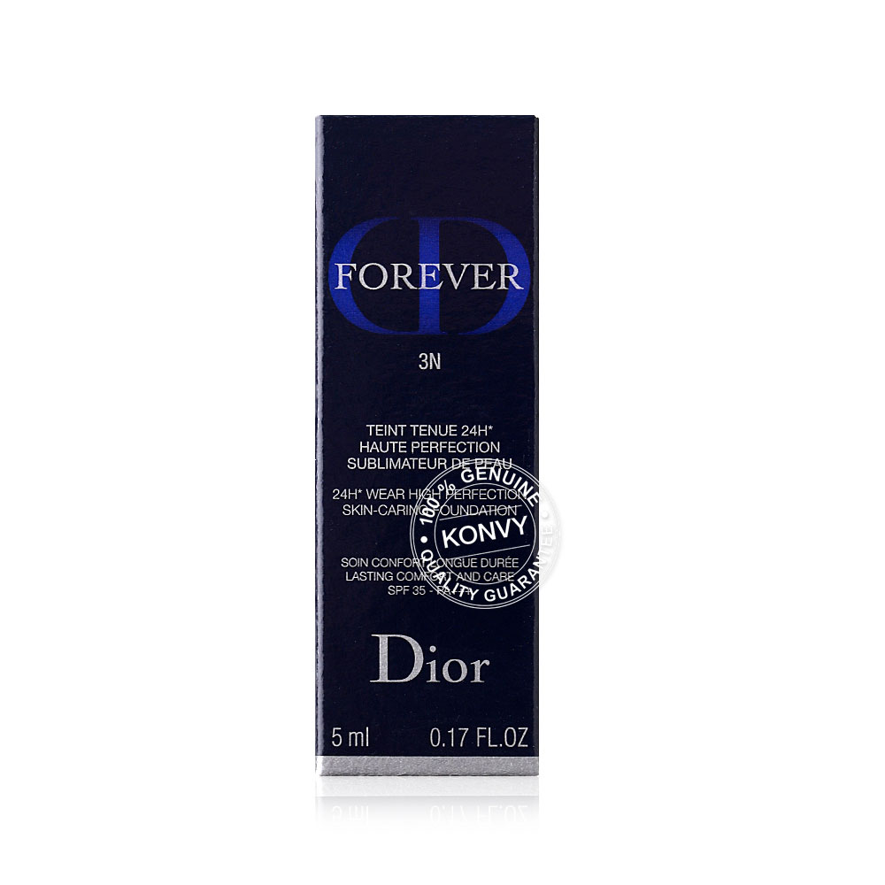 Dior Forever 24H* Wear High Perfection Skin-Caring Foundation SPF 35-PA+++ 5ml #3N Neutral Avant/Before 030