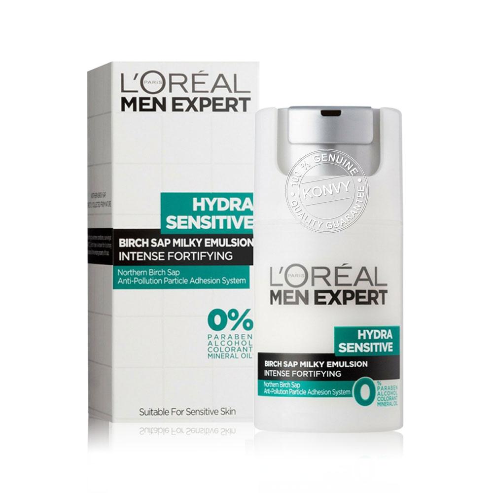 L'Oréal Paris Set 2 Items Men Expert Hydra Sensitive Birch Sap Cream 50ml + Hydra Sensitive Lotion 110ml