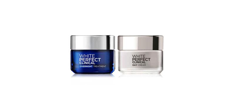 L'Oréal Paris Set 2 Items White Perfect Clinical Day Cream 50ml + White Perfect Clinical Overnight Treatment 50ml