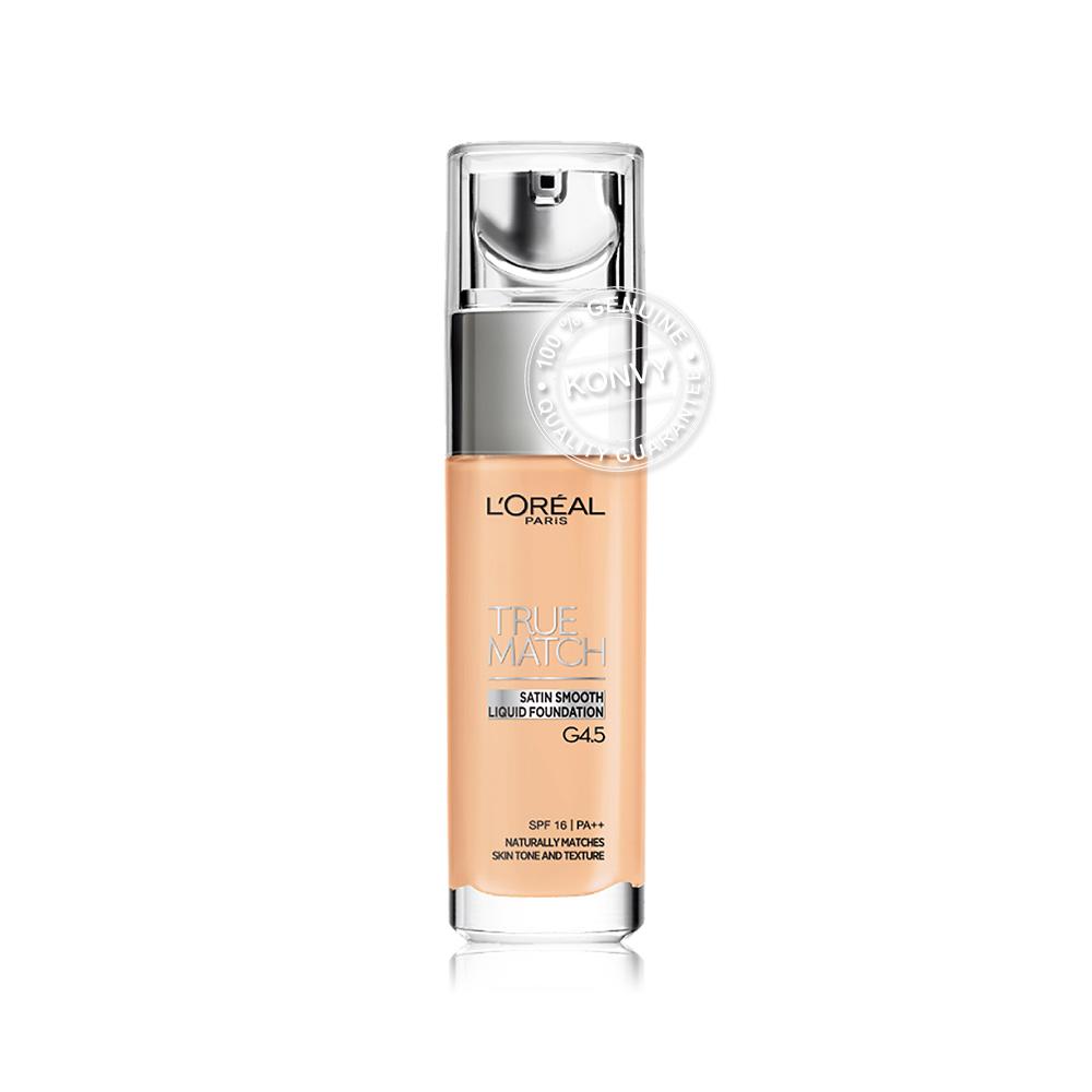 L'Oréal Paris True Match Liquid Foundation SPF16/PA++ 30ml #G4.5