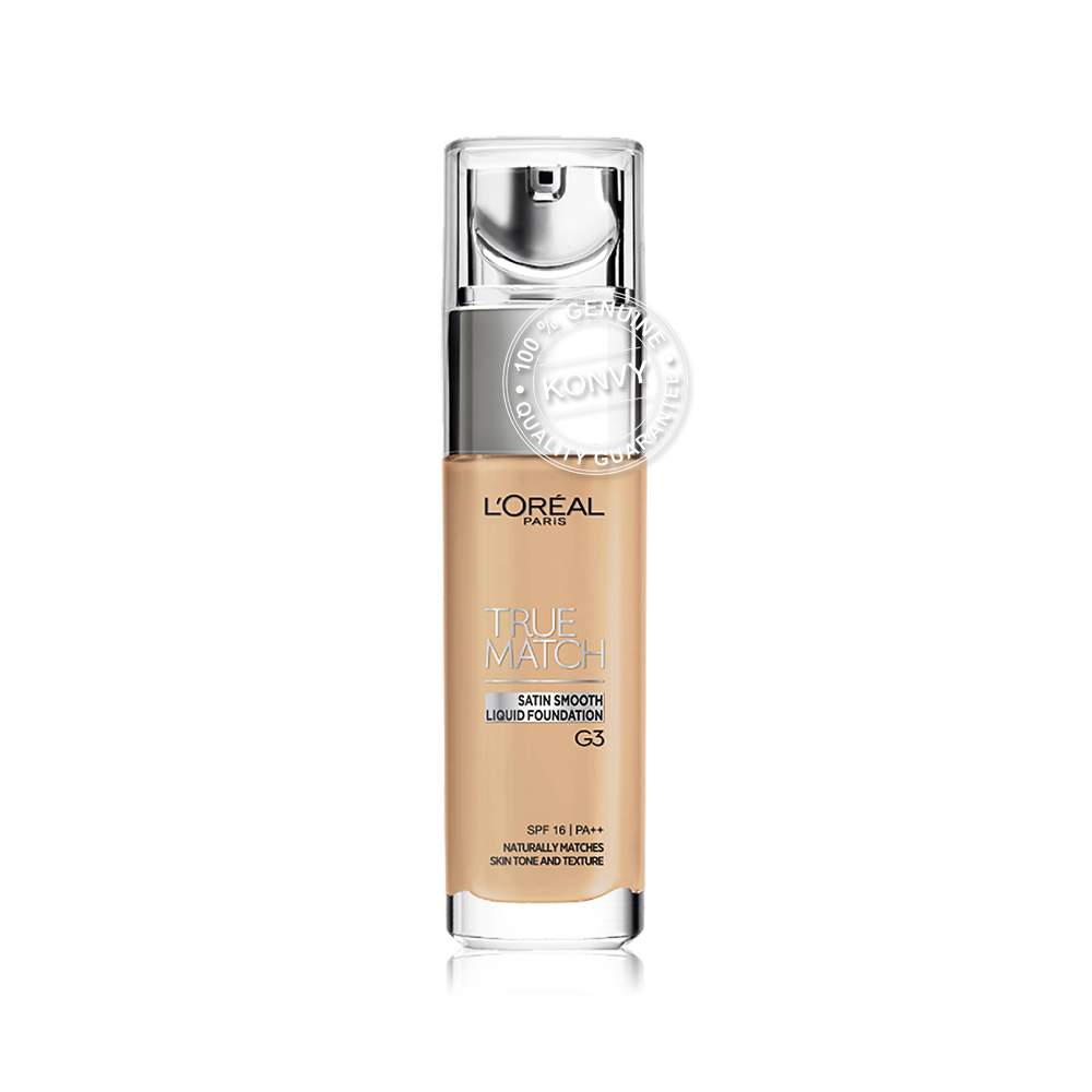 L'Oréal Paris True Match Liquid Foundation SPF16/PA++ 30ml #G3 Golden Beige