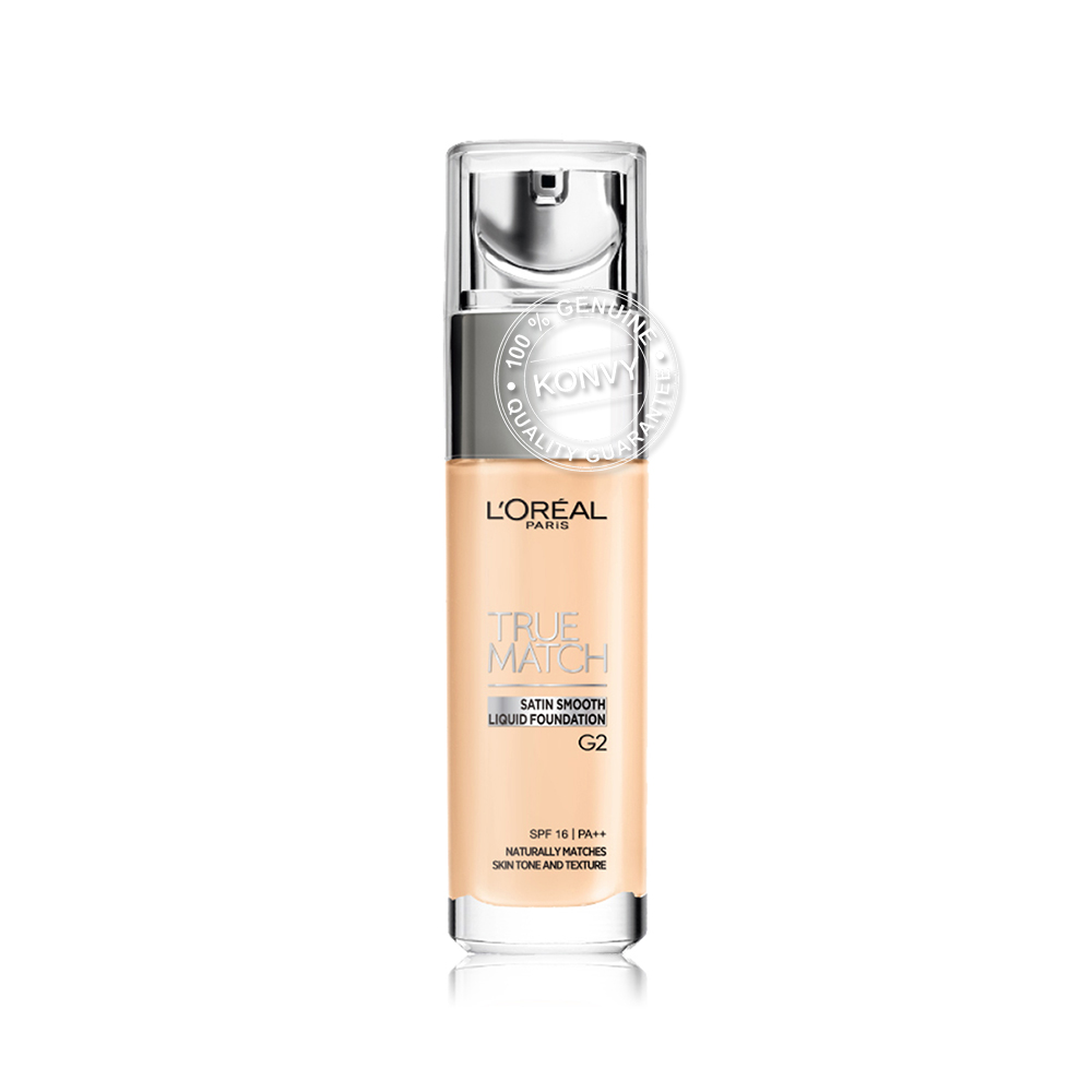 L'Oréal Paris True Match Liquid Foundation SPF16/PA++ 30ml #G2 Porcleain