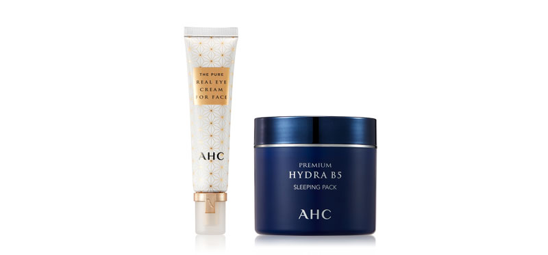 AHC Premium Hydra B5 Sleeping Pack 100ml + The Pure Real Eye Cream For Face 30ml
