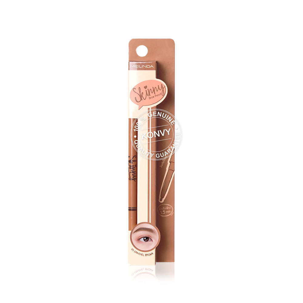 Mei Linda Skinny Brow Pencil 0.8g #01 Caramel Brown